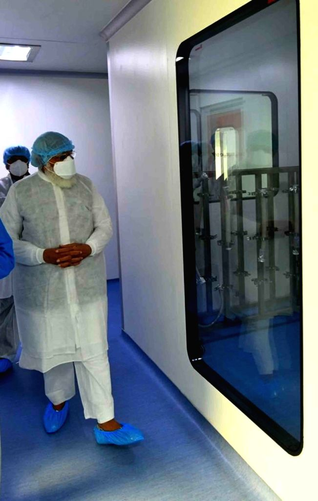 Prime Minister Narendra Modi during his visit to the facility of Bharat Biotech that is developing COVID-19 vaccine, Covexin in collaboration with Indian Council of Medical Research and ... - Narendra Modi