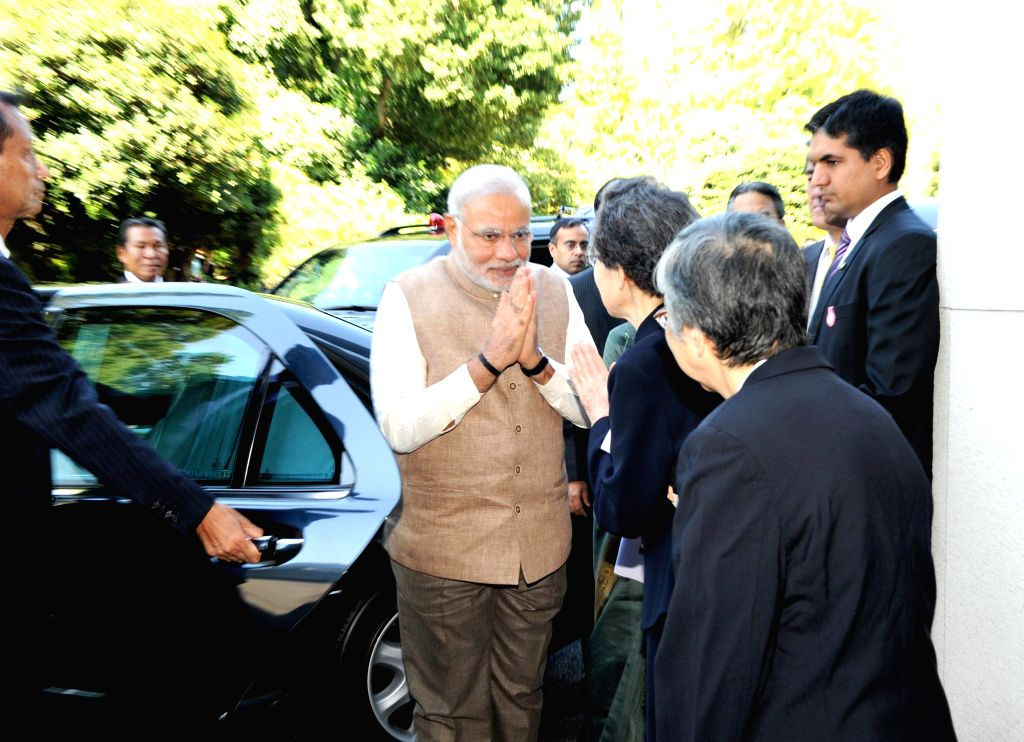 Prime Minister Narendra Modi during his visit to the University of Sacred Heart in Tokyo, Japan on September 02, 2014. - Narendra Modi