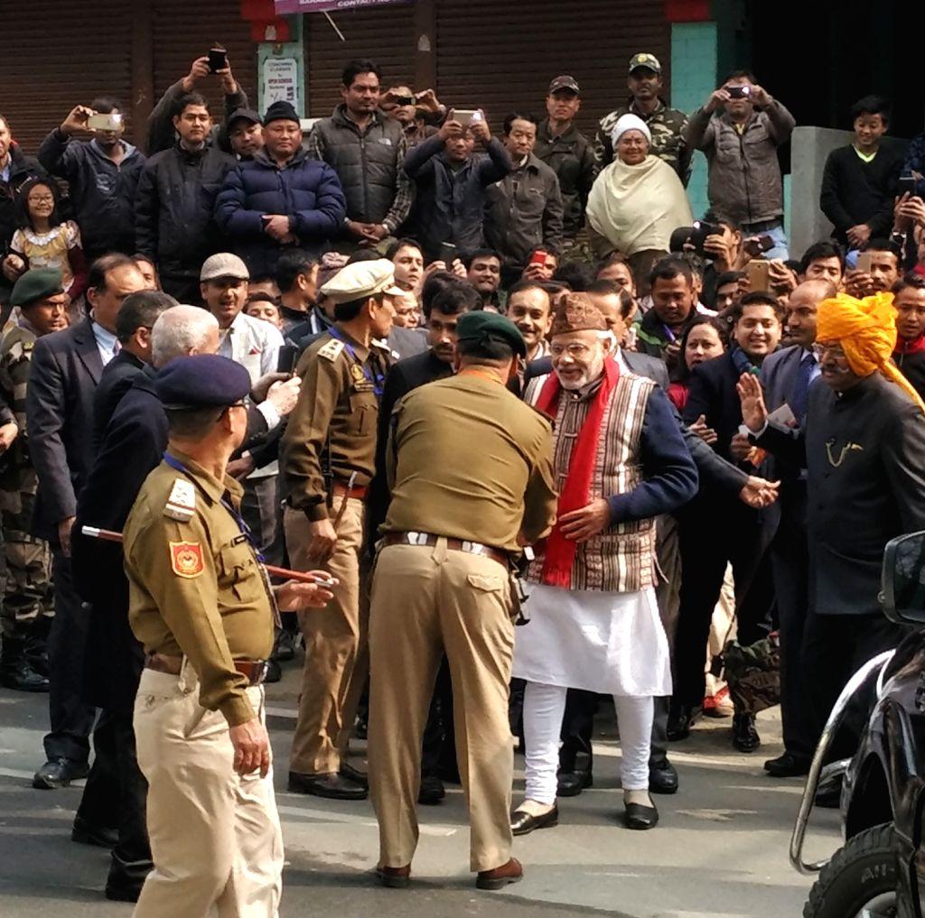 Prime Minister Narendra Modi during his visit to Gangtok, Sikkim on Jan 19, 2016. - Narendra Modi