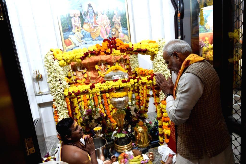 Prime Minister Narendra Modi during his visit to the Lord Shiva temple in Muscat, Oman on Feb 12, 2018. - Narendra Modi