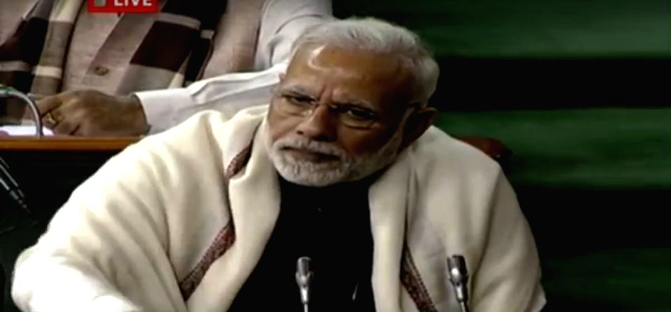 Prime Minister Narendra Modi during presentation of the Union Budget 2018-19 at Parliament on Feb. 1, 2018. - Narendra Modi