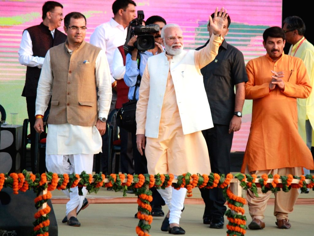 Prime Minister Narendra Modi during Ram Leela at Dwarka, New Delhi on Oct 8, 2019. - Narendra Modi