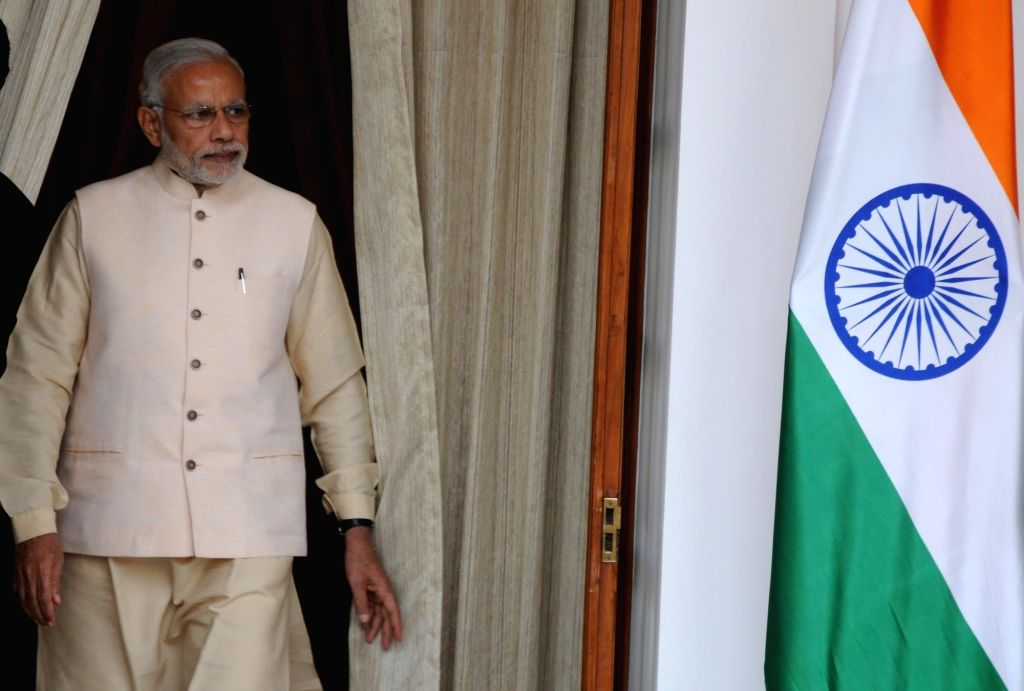 Prime Minister Narendra Modi during the 3rd India Africa Forum Summit, in New Delhi on Oct 28, 2015. - Narendra Modi