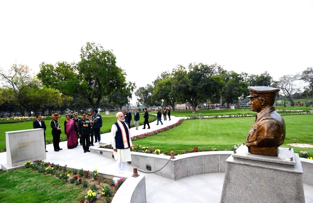 Prime Minister Narendra Modi during the inauguration of the National War Museum (NWM) in New Delhi on Feb 25, 2019. - Narendra Modi