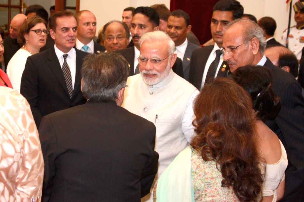Prime Minister Narendra Modi during the 'At Home' function organised on the occasion of 70th Independence Day at Rashtrapati Bhavan, in New Delhi on Aug 15, 2016. - Narendra Modi