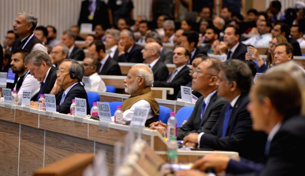 Prime Minister Narendra Modi during the 'MOVE: Global Mobility Summit', in New Delhi, on Sept 7, 2018. - Narendra Modi