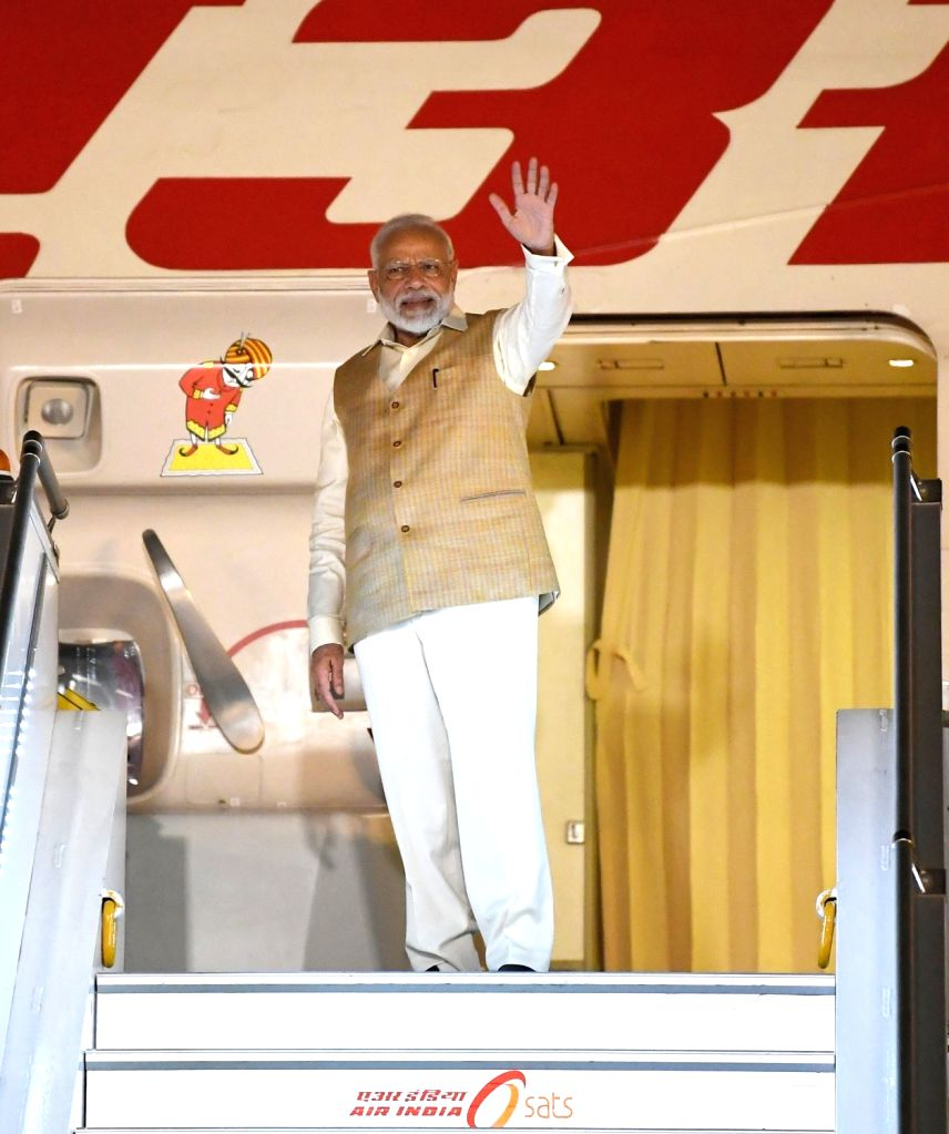 Prime Minister Narendra Modi emplanes for Vladivostok, Russia for participating in Eastern Economic Forum and India - Russia Annual Summit, in New Delhi on Sept 3, 2019. - Narendra Modi