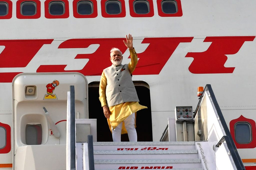 Prime Minister Narendra Modi emplanes for Bishkek, Kyrgyz Republic to attend the meeting of the Council of Heads of State of the Shanghai Cooperation Organization (SCO) from New Delhi on ... - Narendra Modi