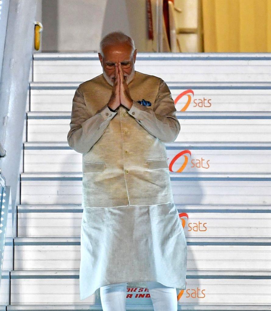 Prime Minister Narendra Modi emplanes for his visit to the US, in New Delhi on Sep 21, 2019. (Photo: IANS/PIB) - Narendra Modi