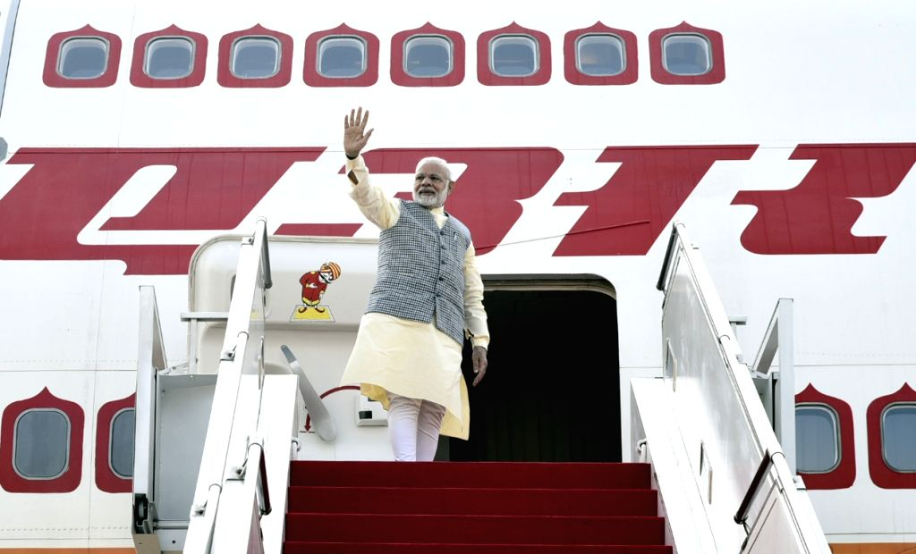 Prime Minister Narendra Modi emplanes for Kuala Lumpur from Jakarta, in Indonesia on May 31, 2018. - Narendra Modi