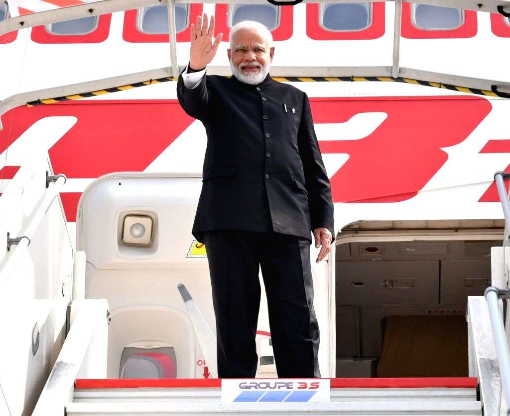 Prime Minister Narendra Modi emplanes for New Delhi after concluding his 3-nation visit to France, UAE and Bahrain comprising of bilateral and multilateral engagements, from Biarritz, ... - Narendra Modi