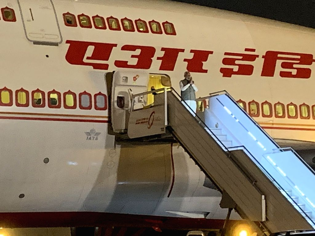 Prime Minister Narendra Modi emplanes for Riyadh, Saudi Arabia from New Delhi on Oct 28, 2019. - Narendra Modi