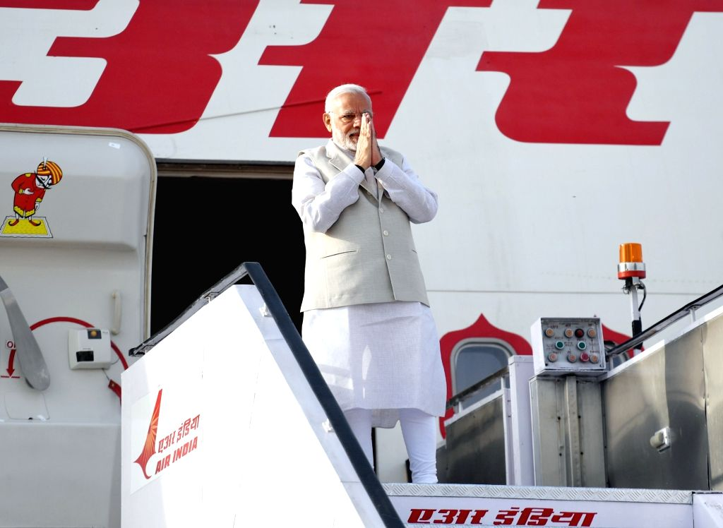 Prime Minister Narendra Modi emplanes for Russia from New Delhi on May 21, 2018. - Narendra Modi