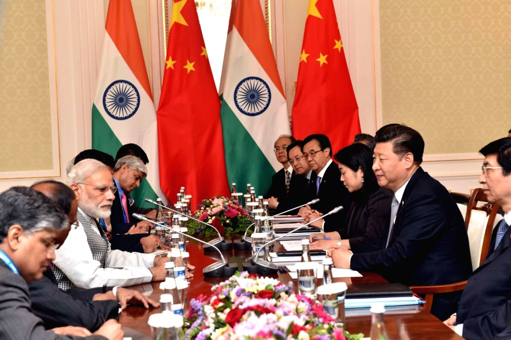 Prime Minister Narendra Modi in a bilateral meeting with the Chinese President Xi Jinping, in Tashkent, Uzbekistan on June 23, 2016. - Narendra Modi