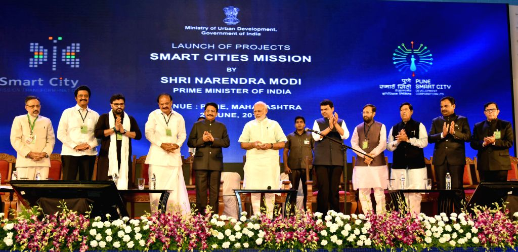 "Prime Minister Narendra Modi inaugurate​d​ the Smart Net Portal, ​84 ​Smart City Projects ​for 20 cities including  Pune and launche​d​ ""Make Your City ... - Narendra Modi"