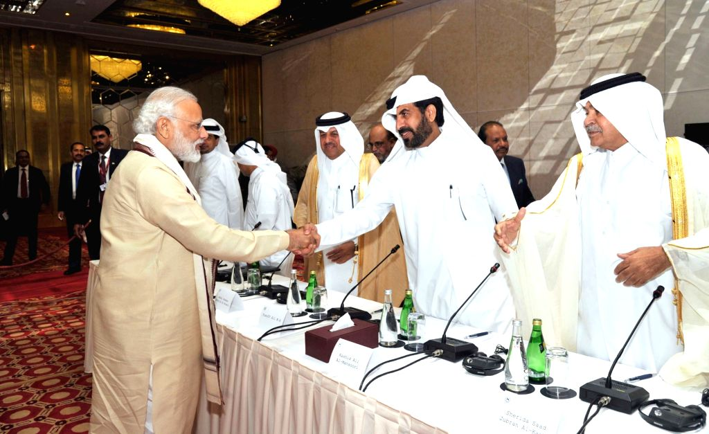 Prime Minister Narendra Modi interacts with business leaders at a Round Table meeting, at Doha, Qatar on June 5, 2016. - Narendra Modi