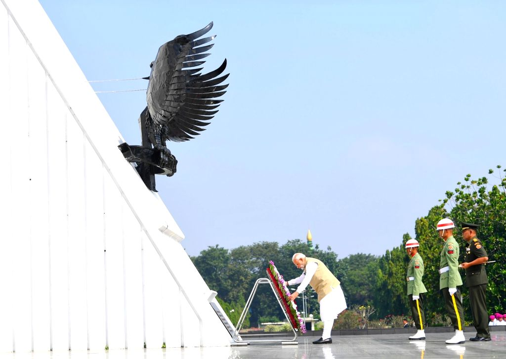 Prime Minister Narendra Modi lays wreath at the Kalibata National Heroes' Cemetery, in Jakarta of Indonesia on May 30, 2018. - Narendra Modi