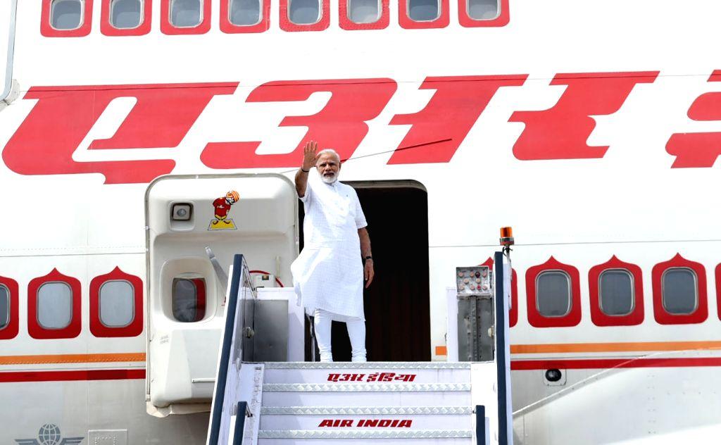 Prime Minister Narendra Modi leaves for Israel from New Delhi on July 4, 2017. - Narendra Modi