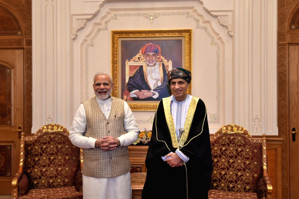 Prime Minister Narendra Modi meets Deputy Prime Minister of Oman, Fahd bin Mahmood Al Said in Muscat, Oman on Feb 12, 2018. - Narendra Modi