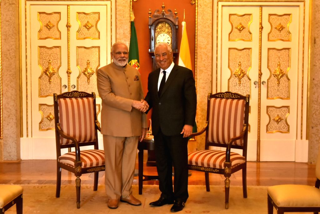 Prime Minister Narendra Modi meets Portuguese counterpart Antonio Costa in Lisbon, Portugal on June 24, 2017. - Narendra Modi