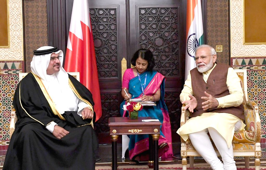 Prime Minister Narendra Modi meets the Crown Prince of Bahrain, Salman bin Hamad bin Isa Al Khalifa in Manama, Bahrain on Aug 24, 2019. (File Photo: IANS/PIB) - Narendra Modi