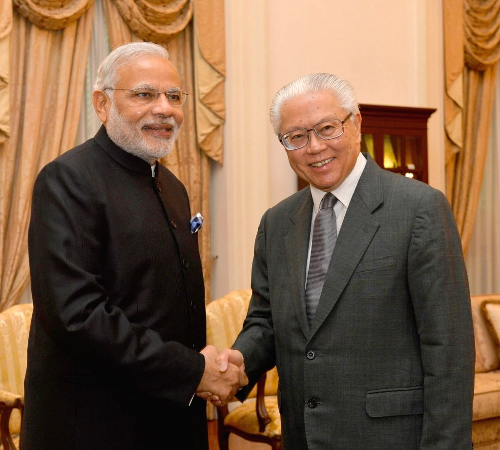 Prime Minister Narendra Modi meets the President of Singapore Tony Tan Keng Yam, in Istana, Singapore on Nov 24, 2015. - Narendra Modi