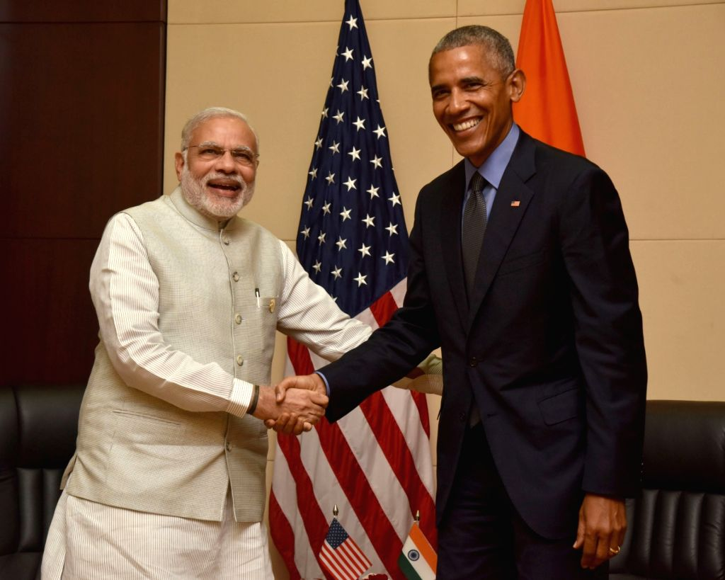 Prime Minister Narendra Modi meets the President of United States of America (USA) Barack Obama on the sidelines of the 11th East Asia Summit at Vientiane, Lao PDR on Sept 8, 2016. - Narendra Modi