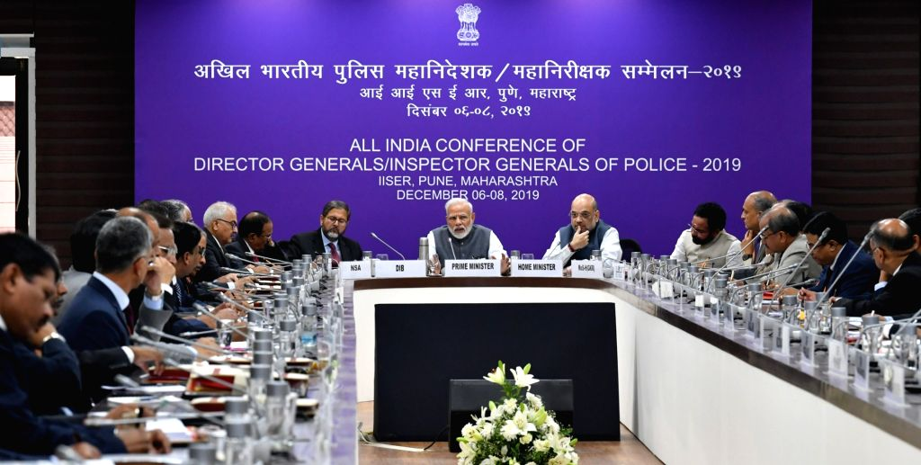 Prime Minister Narendra Modi presides over the All India Conference of Director Generals /Inspector Generals of Police 2019 at IISER in Pune on Dec 7, 2019. - Narendra Modi