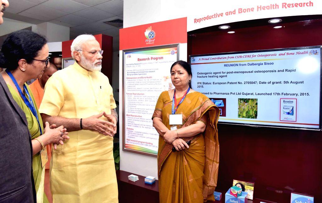 Prime Minister Narendra Modi visits the Central Drug Research Institute, in Lucknow on June 20, 2017. - Narendra Modi