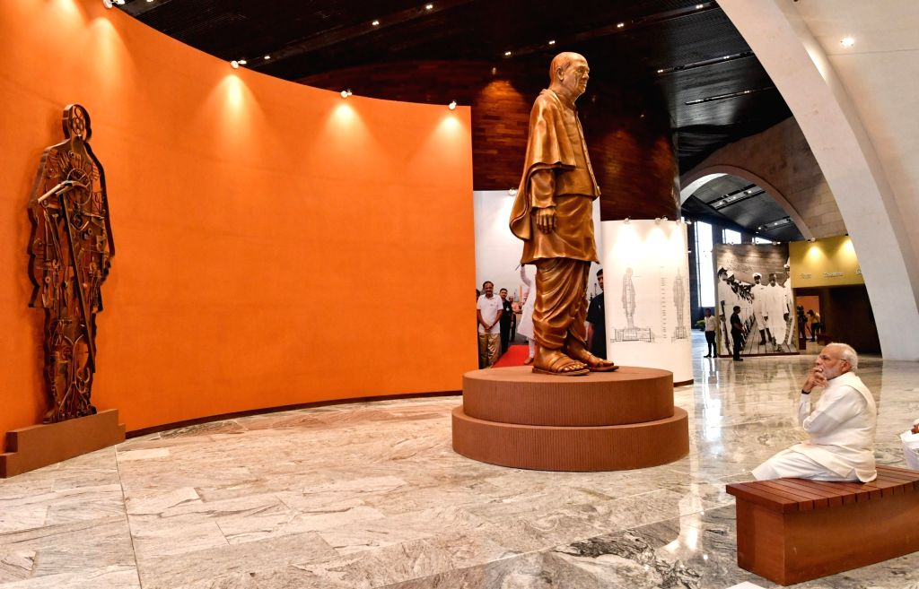 Prime Minister Narendra Modi visits the Museum, Exhibition and Viewers' Gallery, during the inauguration of 'Statue of Unity' on the occasion of  'Rashtriya Ekta Diwas' - birth anniversary ... - Narendra Modi and Sardar Vallabhbhai Patel