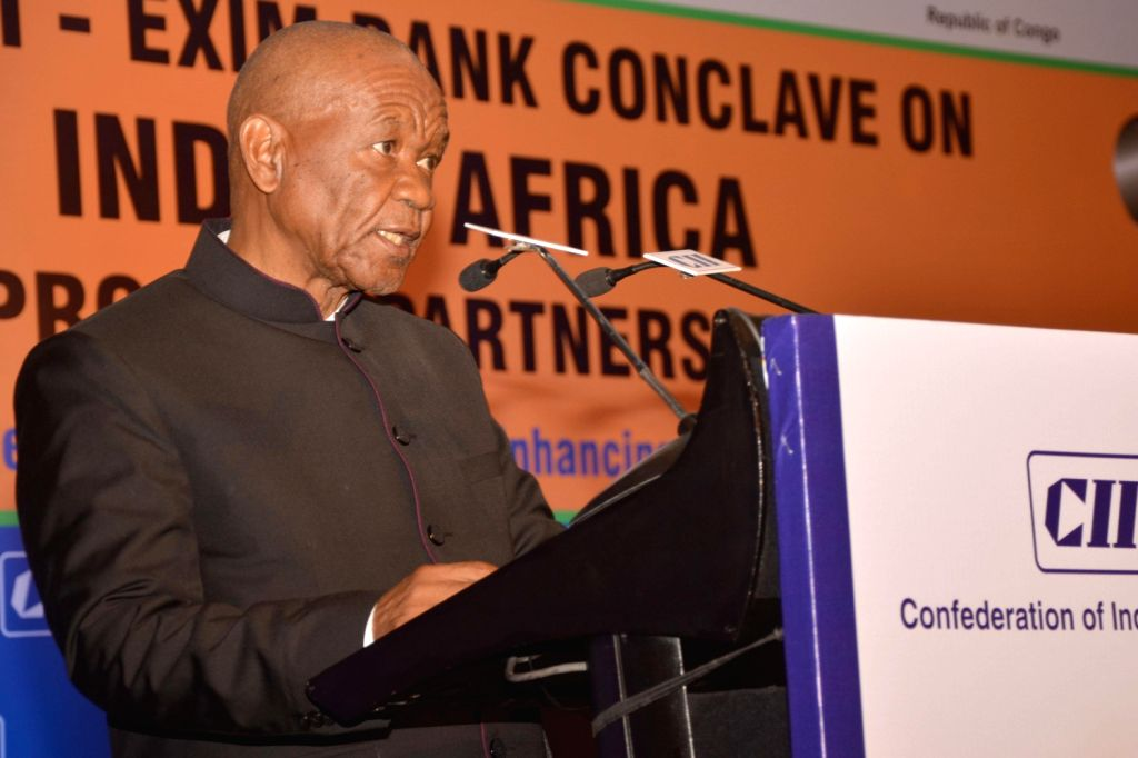 Prime Minister of Lesotho Thomas Motsoahae Thabane addresses during the inaugural session of  the `10 th CII-EXIM Bank Conclave on India Africa Project Partnership` in New Delhi on March 10, 2014. ...
