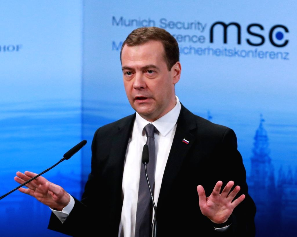 Prime Minister of Russia Dmitry Medvedev. (File Photo: IANS)