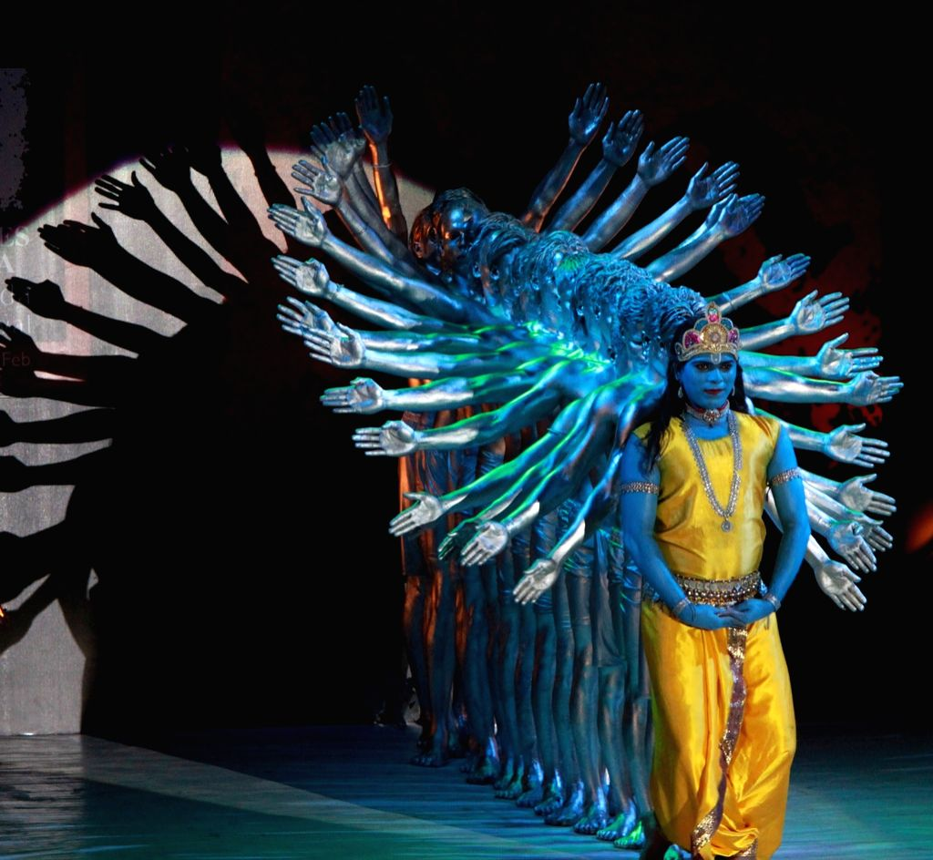 """Prince Dance Group stage """"Konark"""" - a contemporary performance on the second day of Odisha Parba 2017, a 3 days mega celebration of Odisha's Culture, Tradition, Heritage and ..."""