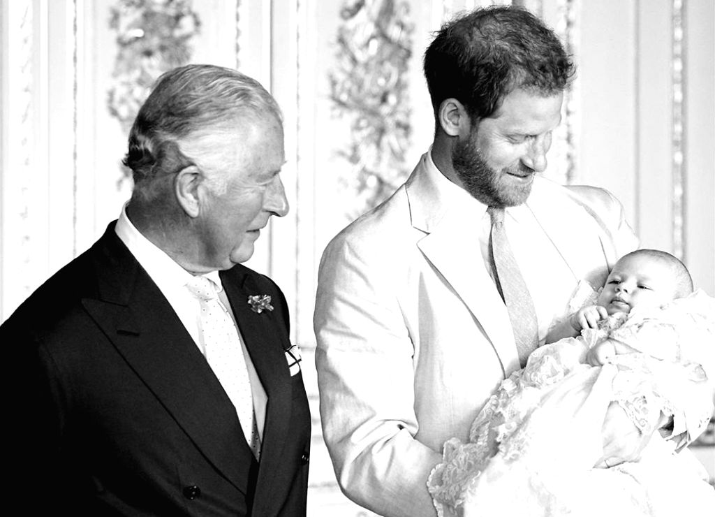 Prince Harry on Thursday wished his father Prince Charles on his birthday and posted a previously unseen photo of the two with the Duke of Sussex's son Archie on the social media.
