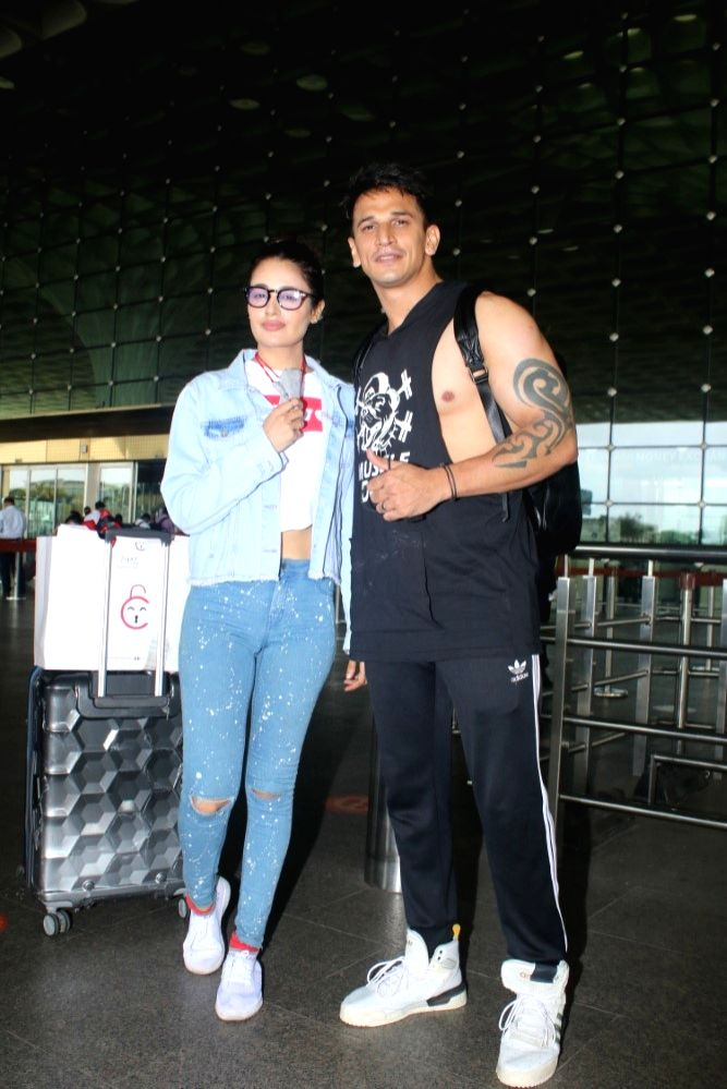 Prince Narula Spotted At Airport Departure in Mumbai on 24 june,2021.