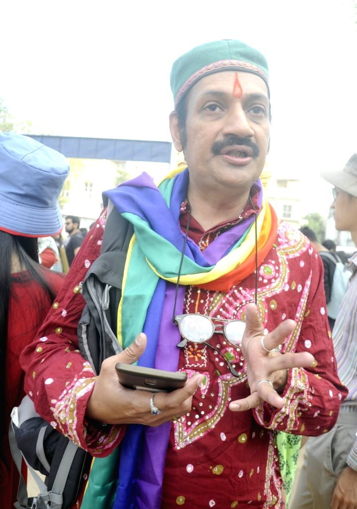Prince of Rajpipla in Gujarat, Manvendra Singh Gohil participtes in a Queer Pride Parade in Ahmedabad on Feb 24, 2019. - Manvendra Singh Gohil