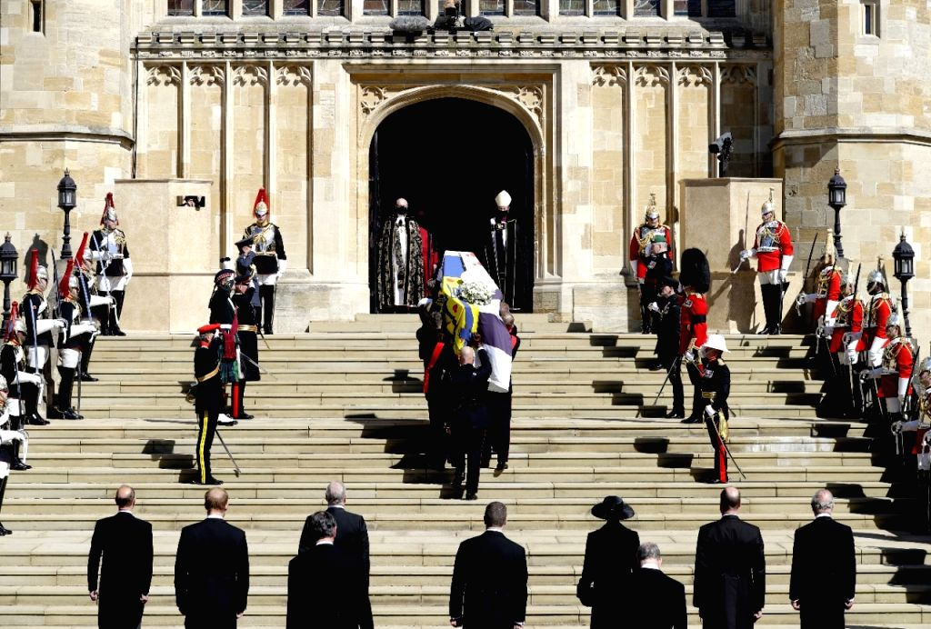 Prince Philip interred in the royal vault of St George's Chapel (Credit : DPA) (Not for sale)
