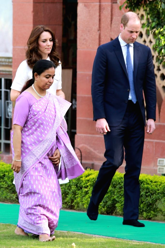 Prince William and Kate Middleton, the Duke and Duchess of Cambridge at Gandhi Smriti in New Delhi, on April 11, 2016.