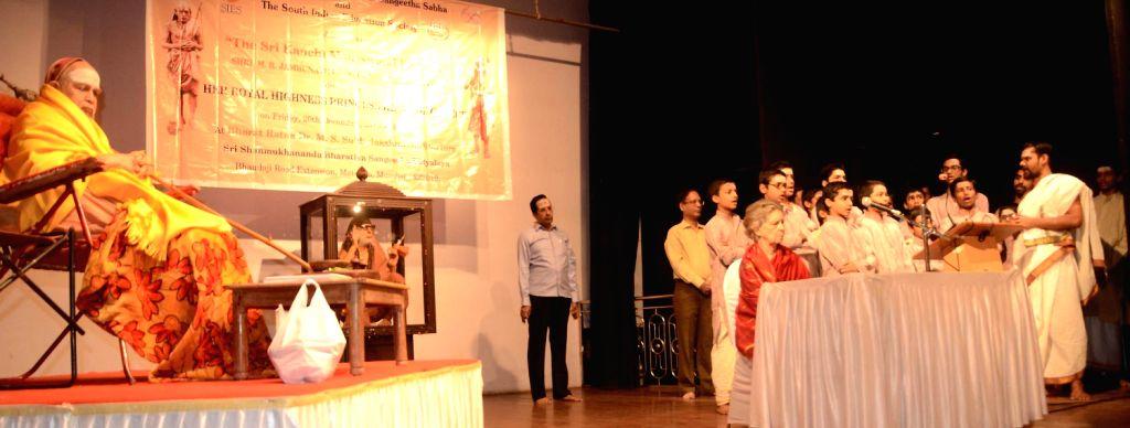 Princess Irene of Greece with Kanchi Mahaswami Jayendra Saraswati Shankaracharya in Mumbai on Dec. 20, 2013 night.