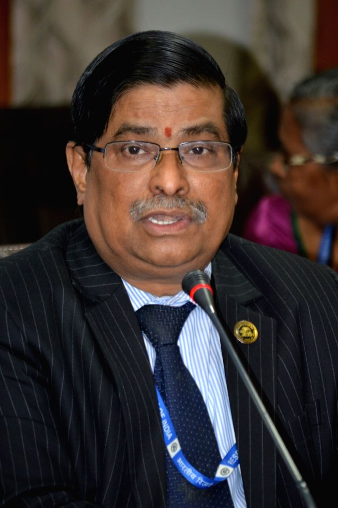 Principal Chief General Manager and Banking Ombudsman for AP and Telangana Dr. N Krishna Mohan addresses a press conference in Hyderabad on July 25, 2016.