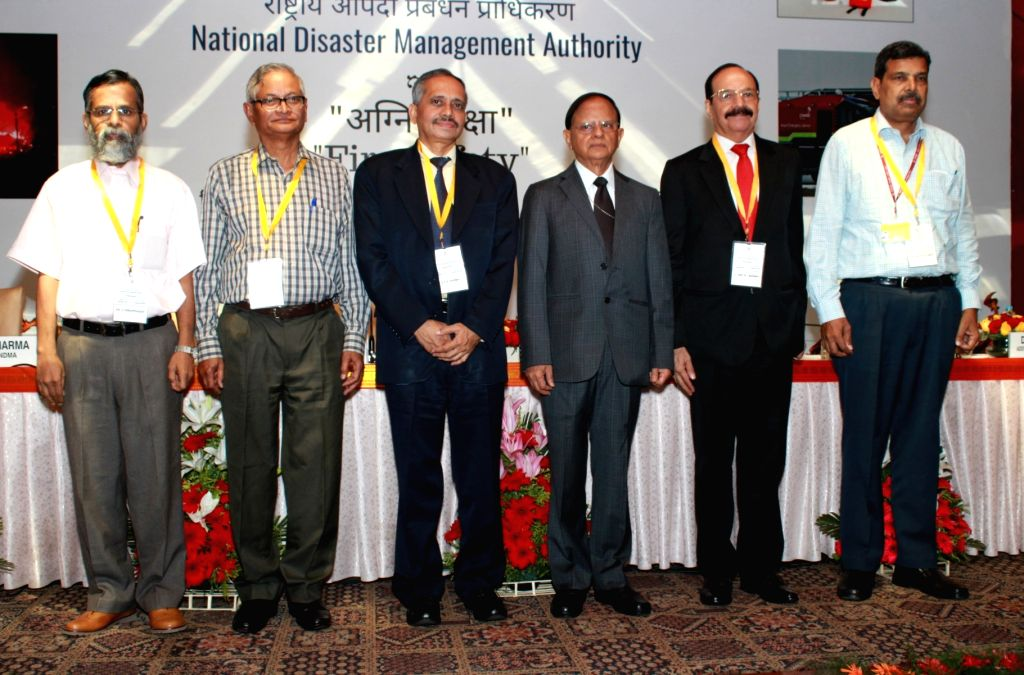 Principal Secretary to the Prime Minister, Pramod Kumar Mishra and other dignitaries during the valedictory session of Conference on Fire Safety, in New Delhi on Sep 27, 2019. - Pramod Kumar Mishra
