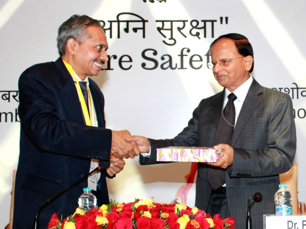 Principal Secretary to the Prime Minister, Pramod Kumar Mishra during the valedictory session of Conference on Fire Safety, in New Delhi on Sep 27, 2019. - Pramod Kumar Mishra