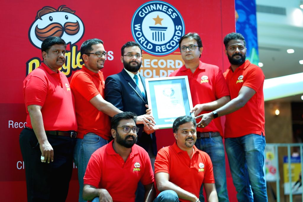 "Pringles® India enters Guinness World Records for creating 'Largest Sentence Made from Packaged Food' ""#GetItBackIndia"""