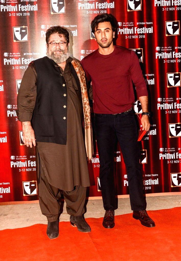Prithvi Theatre's director Kunal Kapoor and actor Ranbir Kapoor during the Prithvi festival's opening ceremony in Mumbai on Nov 3, 2018. Prithvi Theatre celebrates 40 years. The festival ... - Kunal Kapoor and Ranbir Kapoor