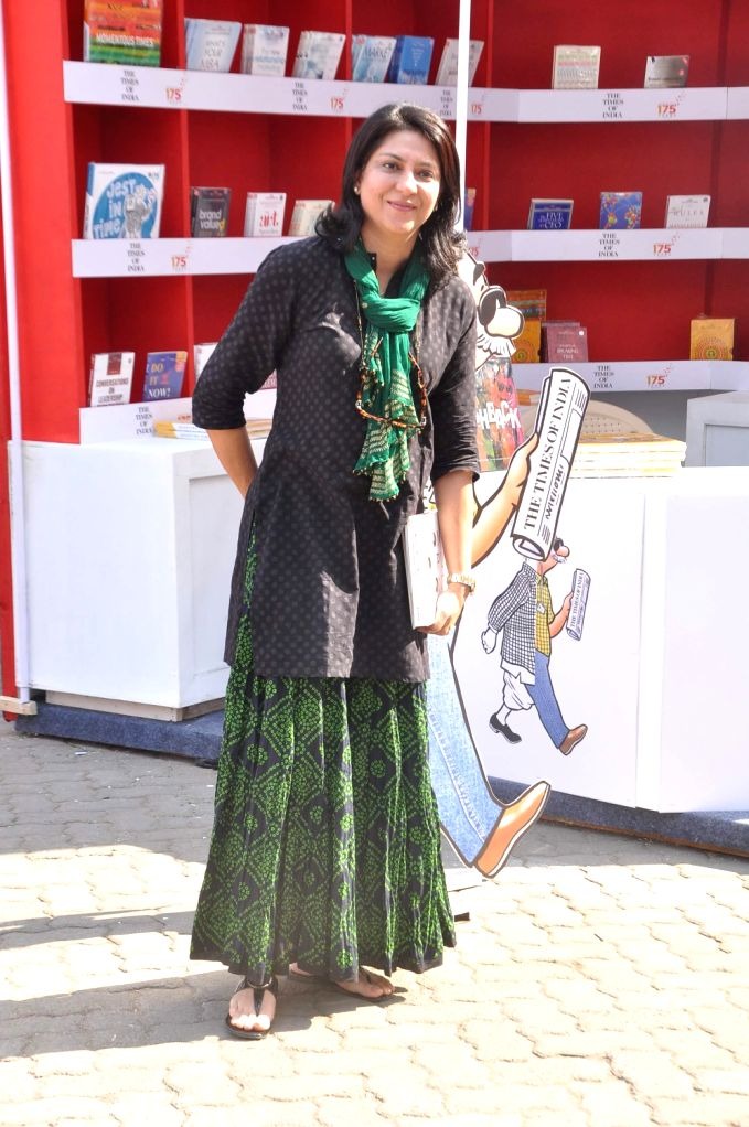 Priya Dutt, Congress Member of Parliament (MP) during Neeraj's book launch Ghalib Danger at the Literary Carnival, a festival for author, film-makers, lyricists, foodies, fitness experts, money . - Priya Dutt