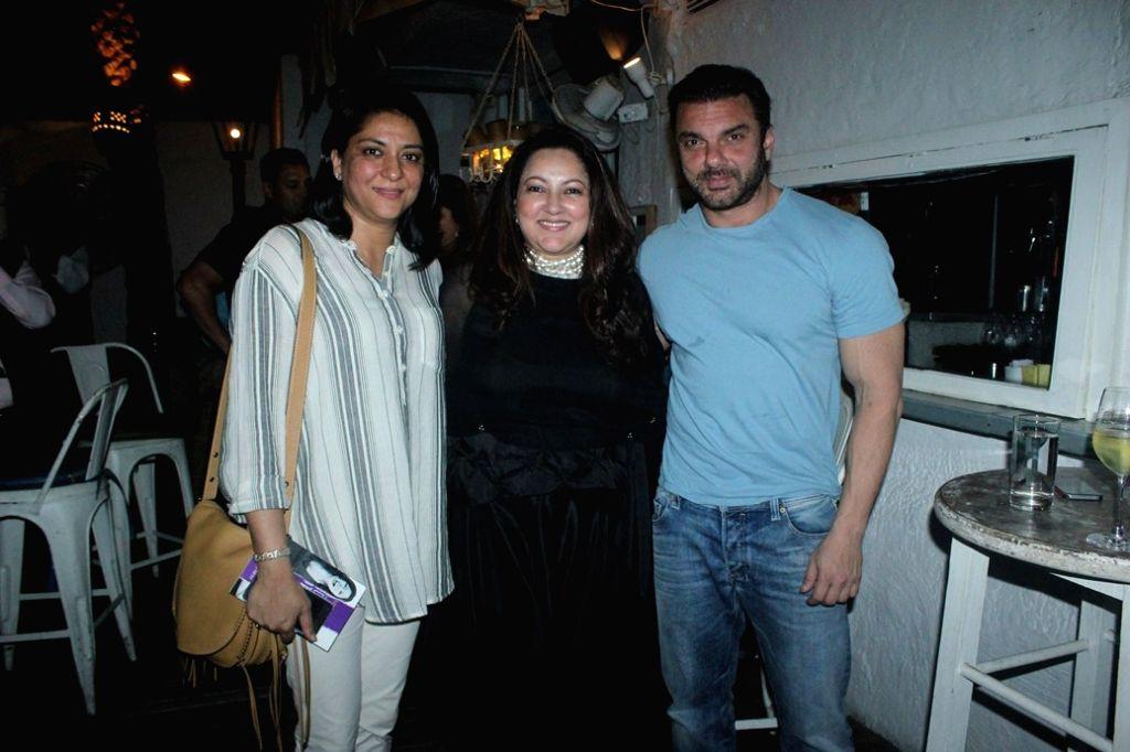 Priya Dutt, Lina Ashar and Sohail Khan duringt the book launch of Drama Teen author by Lina Ashar in Mumbai on Jan 24, 2017 - Priya Dutt and Sohail Khan