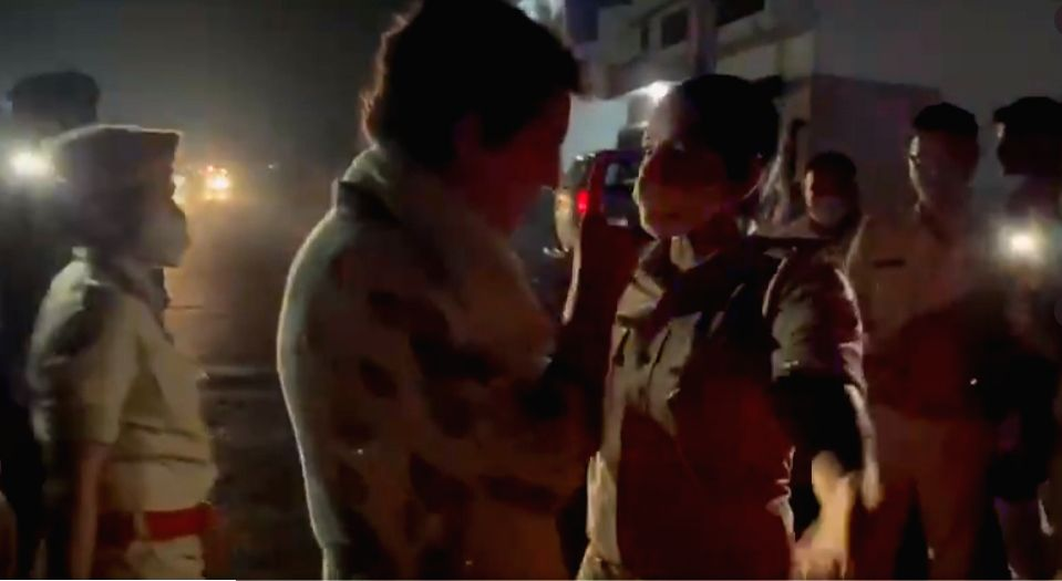 Priyanka arrested, oppn leaders under house arrest as death toll in Lakhimpur Kheri rises to 8. (Credit : Twitter)