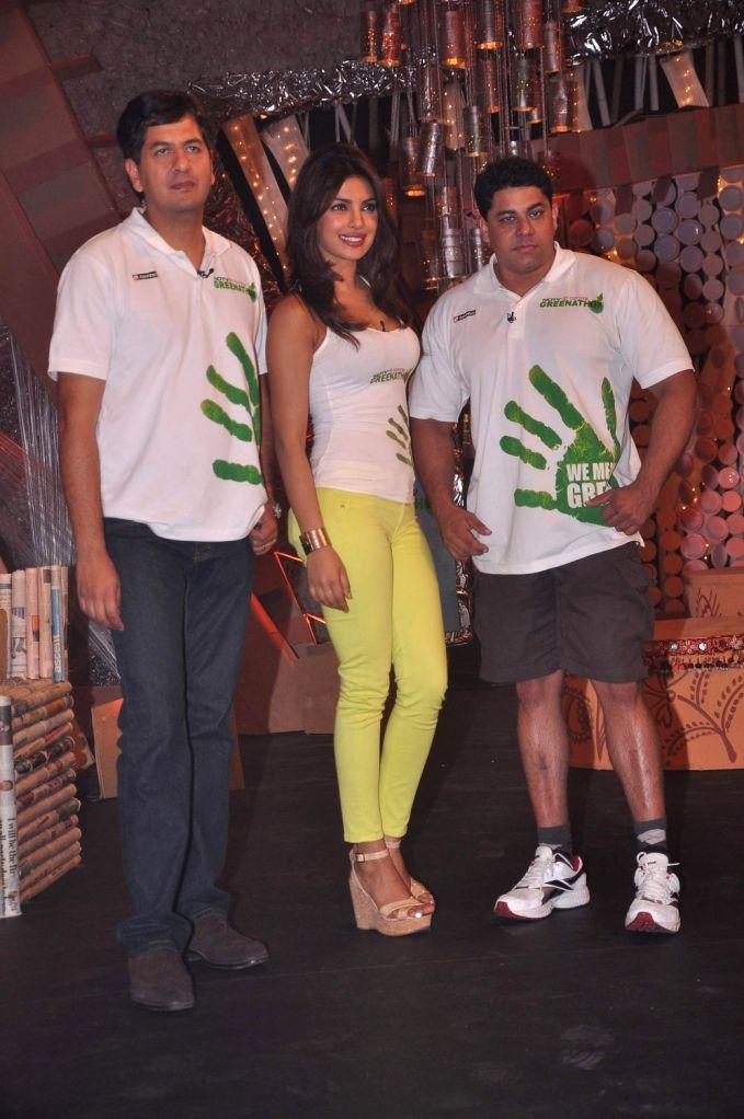 Priyanka Chopra on NDTV Greenathon event in Mumbai. - Priyanka Chopra