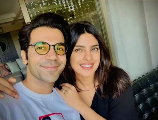 """Priyanka Chopra, Rajkummar Rao and director Ramin Bahrani are currently engaged in a table read session of the script of their upcoming Netflix project, """"The While Tiger"""", along with other members of the cast. - Ramin Bahrani, Priyanka Chopra and Rajkummar Rao"""