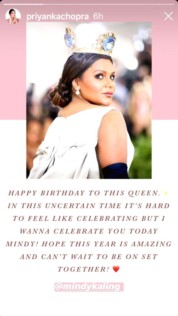 Priyanka Chopra wishes 'queen' Mindy Kaling on birthday. - Priyanka Chopra